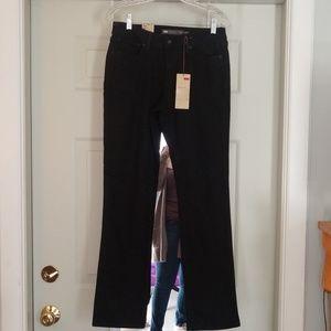 Levi's size 10 black NWT straight leg jeans